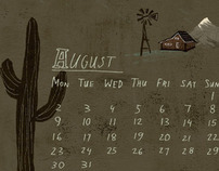 DesertFriends 2010 desktop wallpaper calender