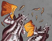 The Samurai Pillow Fight