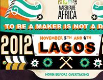 Maker Faire Africa '12 Event Graphics
