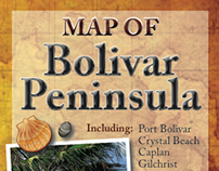 Map of Bolivar Peninsula