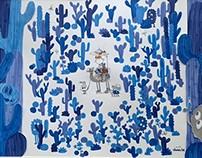THOMAS&RONNI 'BLUE CACTUS FOREST'