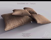 Coussins 3D texture