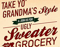 Ugly Sweater Grocery Bingo Event Poster