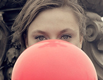 The Girl with the Red Balloon (ELLE Sg July 2012)