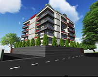 Proposed Apartment, Ratmalana - 3D Views