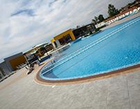Exterior and interior design of pool complex, Pecinci