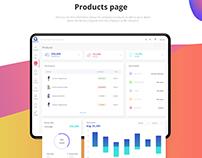E-shop management software, dashboard   UI/UX