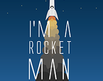 "Ilustração Simples - ""Rocket Man"" de Elton John"