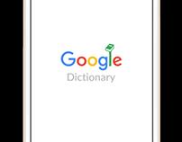 google dictionary ui design