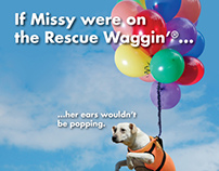 Rescue Waggin' Magazine Ads