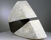 Raku Fired  Contemporary Ceramic Sculpture