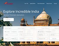 Air India Website Concept