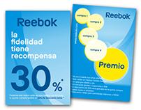 Reebok tarjetas de fidelización