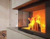 Corner Fireplace // Rüegg Cheminée #1