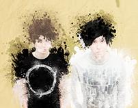 Paint Splatter Style - Dan & Phil