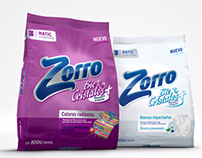 3D - Washing powder bag  & Packaging Design