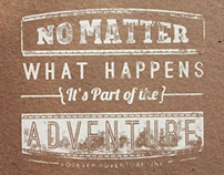 Forever Adventure Typographic Prints