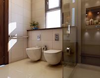 Interior Render,Bathroom