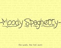 -Moody Spaghetty- Lunatic Free Font