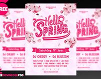 Spring Party Flyer + Social Media Post
