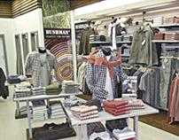 Redesign interieru obchodů BUSHMAN