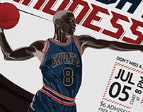 Basketball Match Flyer Template