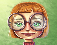 Nerdy Girl Portrait
