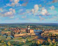 Narva in the 1700s.