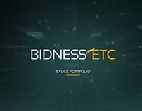 Bidness Stock Portfolio Mobile App Design
