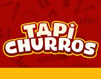 Cardápio, cartão fidelidade, banner Tapi Churros