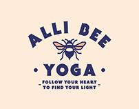 Logo Creation: Alli Bee Yoga.