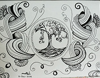 Doddle Art-Divine relation of art and trees
