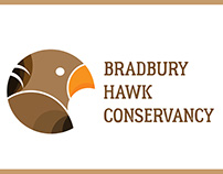 Bradbury Hawk Conservancy Logo Design