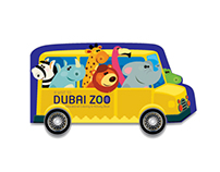 Dubai Zoo | Interactive Colouring book
