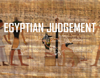 Egyptian judgement illustration.