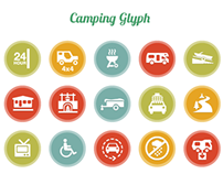 Camping/outdoors glyphs