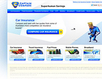 Captain Compare logo and website design