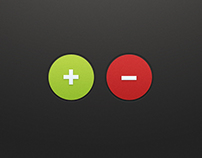 Plus Minus Buttons (PSD)