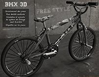 BMX 3D white & black