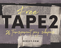 26 FREE Tape PNG Shapes 2