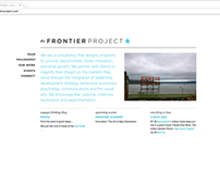 The Frontier Project Website Design v2