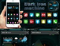 Dark machine iron free theme
