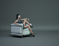 Le Corbusier Chair | 3D Visualization