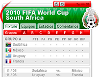2010 FIFA WORLD CUP - MEXICO // UI Widget Design