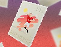 Postage Stamps Premier League 2014-15
