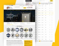 Website design for BEE Bruce Electric Equipment