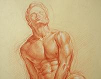 Sanguine drawing A3 Kamil Strzelecki