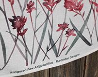 Kangaroo Paw Linen Tea Towel