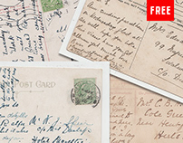 (Free) 36 Vintage Postcards with Handwriting and Stamps