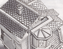 Polly Pocket House Drawings